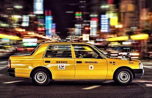 những điều thú vị khi đi taxi ở nhật bản