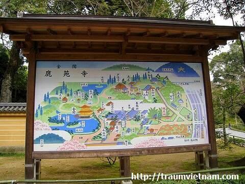 Bản đồ chùa vàng Kinkaku