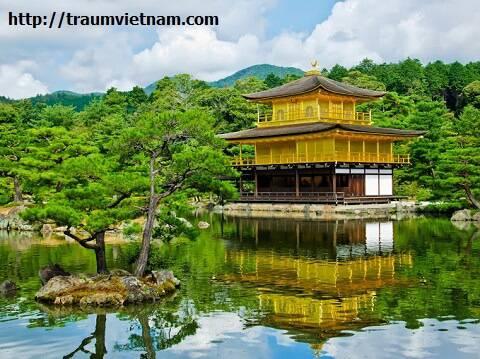 Chùa làm bằng vàng ở Nhật - Chùa vàng Kinkaku