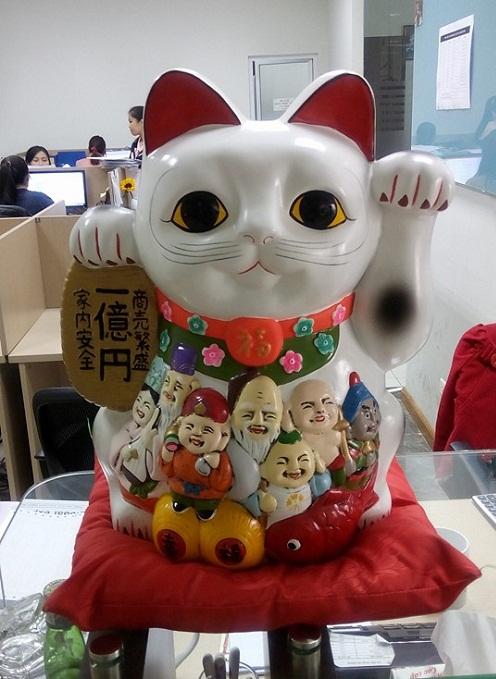 mèo may mắn tại traum