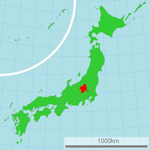 bản đồ Gumma Nhật Bản