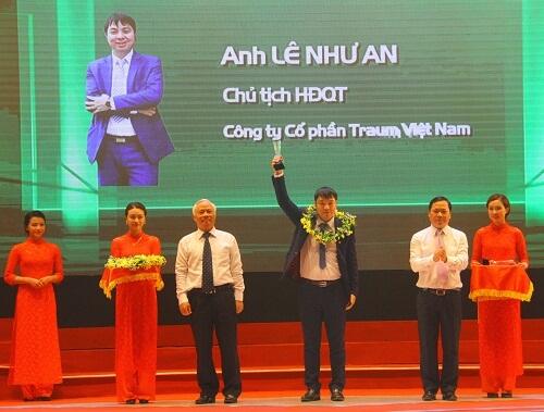 Traum Việt Nam nhận danh hiệu doanh nhân trẻ khởi nghiệp xuất sắc năm 2016