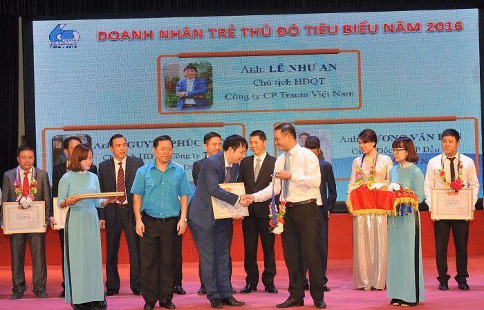 Ông Lê Như An được tuyên dương doanh nhân trẻ Thủ đô tiêu biểu 2016
