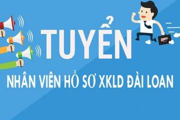Tuyển nhân viên làm hồ sơ XKLD Đài Loan