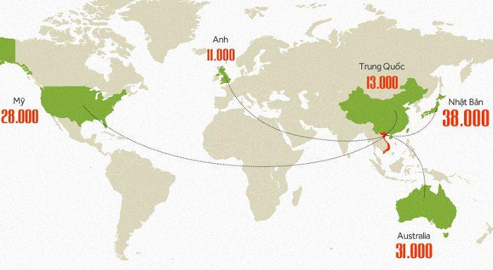 38000 du học sinh đang học tập tại Nhật Bản