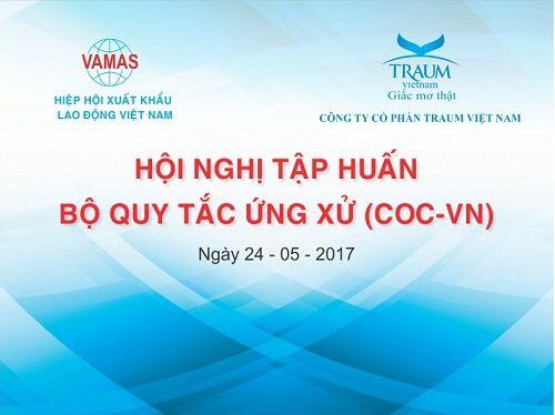 Traum Việt Nam tổ chức hội nghị tập huấn Bộ quy tắc ứng xử CoC-VN