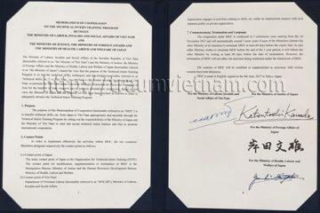 Thỏa thuận MOC – thực tập sinh sẽ được làm việc tại Nhật 5 năm
