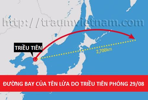 Tên lửa Triều Tiên bay qua Nhật Bản khiến nhiều TTS hoang mang