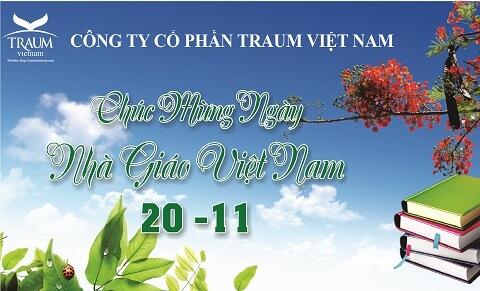 chào mừng ngày nhà giáo việt Nam 20/11 Traum Việt Nam