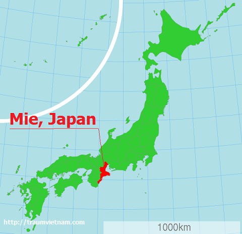 Bản đồ tỉnh Mie Nhật Bản