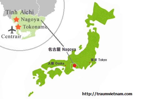 Vị trí địa lý của tỉnh Aichi Nhật Bản