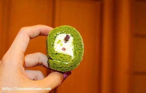 Bánh gato trà xanh