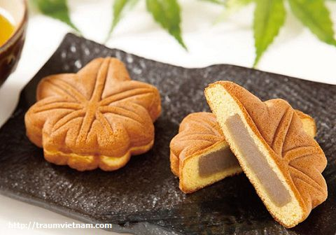 Bánh hình lá phong Momiji manju