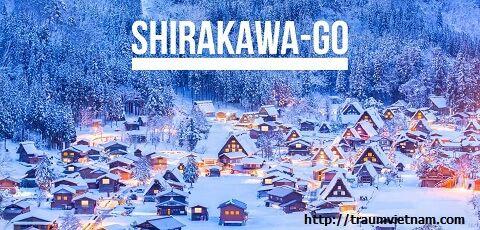 Làng cổ Shirakawo với những ngôi nhà tranh mái dốc