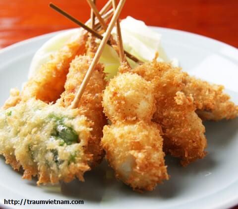 Món ngon ở Osaka - Kushiage