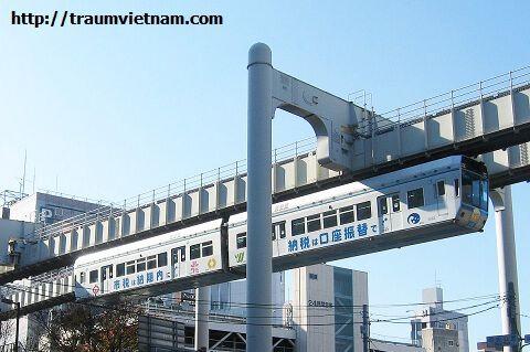 Tỉnh Chiba Nhật Bản - đường tàu điện trên cao