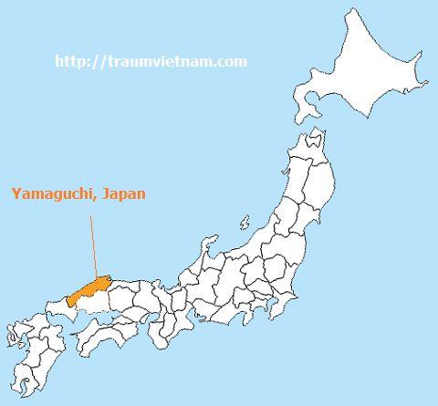 Vị trí địa lý của tỉnh Yamaguchi Japan