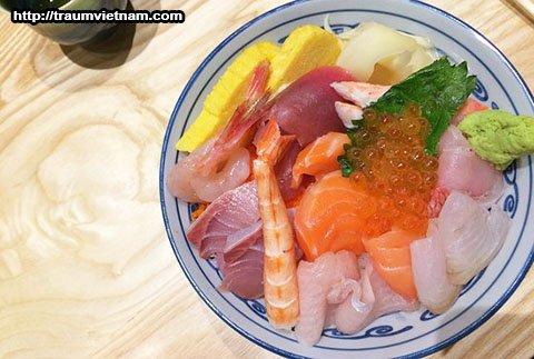 Kaisen don - sashimi kiểu Ibaraki