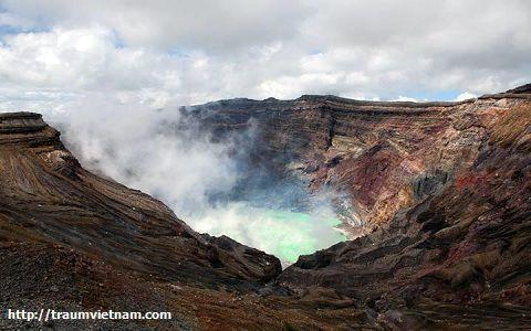 Đỉnh núi lửa Aso