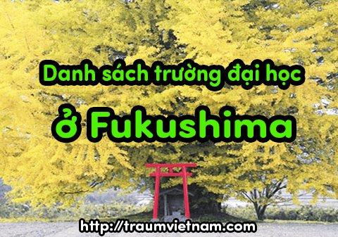 Danh sách các trường đại học ở Fukushima Nhật Bản