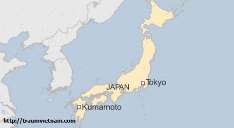 Vị trí địa lý của tỉnh Kumamoto Japan