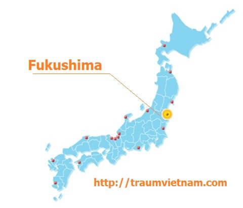Vị trí địa lý của tỉnh Fukushima Japan
