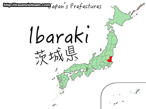 Vị trí địa lý của tỉnh Ibaraki Nhật Bản