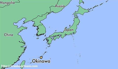 Vị trí địa lý của tỉnh Okinawa Japan
