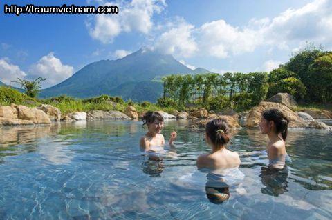 Suối nước nóng Ureshino Onsen - tỉnh Saga Nhật Bản