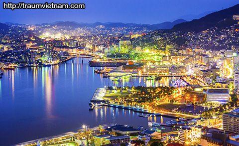 Cảnh đêm ở tỉnh Nagasaki Nhật Bản