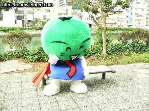 Sudachi-kun Linh vật của tỉnh Tokushima Nhật Bản