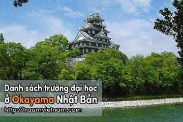 Danh sách các trường đại học ở Okayama Nhật Bản