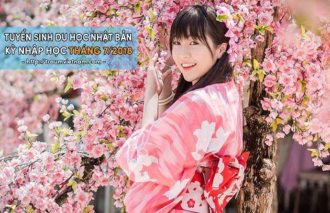 Tuyển sinh du học Nhật Bản kỳ tháng 7 năm 2018 phí thấp