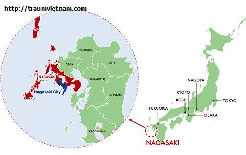 Vị trí địa lý của tỉnh Nagasaki Nhật Bản
