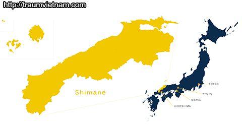 Vị trí địa lý của tỉnh Shimane Nhật Bản