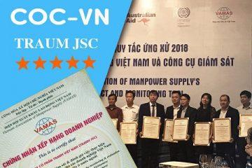 Traum Việt Nam vinh dự xếp hạng 5 sao về thực hiện CoC-VN 2017