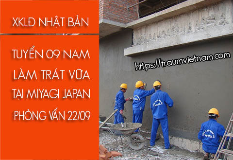 Tuyển 9 nam phỏng vấn làm xây dựng ở Miyagi Nhật Bản 22/09